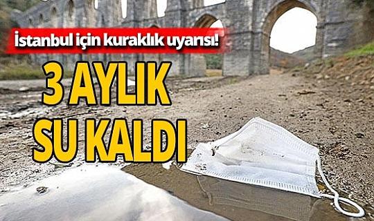 DSİ uyardı: İstanbul'un 3 aylık suyu kaldı