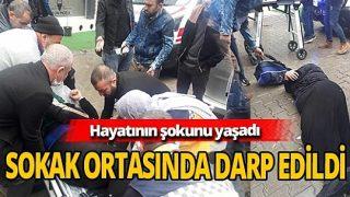 Erkek dehşeti! Hamile kadını tekme atarak dövdü
