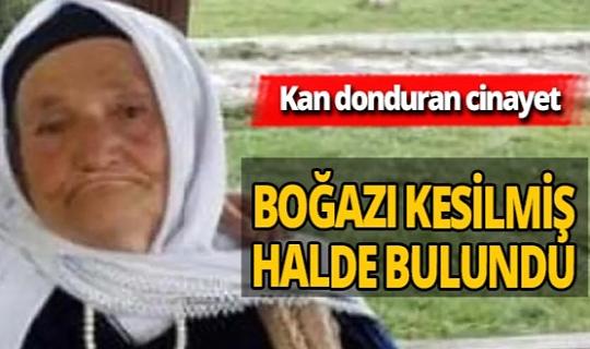 Erzurum'da yaşlı kadın boğazı kesilmiş halde bulundu