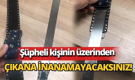 Esenyurt'ta şüpheli kişinin üzerinden kemer görünümlü döner bıçağı çıktı