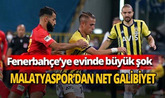 Fenerbahçe evinde Yeni Malatyaspor'a 3-0 yenildi