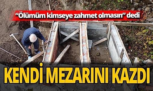 Fıkra gibi olay! Dursun Ali Karaman ölmeden mezarını kazdı