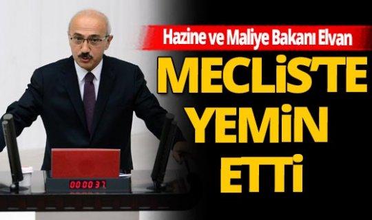 Hazine ve Maliye Bakanı Lütfi Elvan 2 kez yemin etti