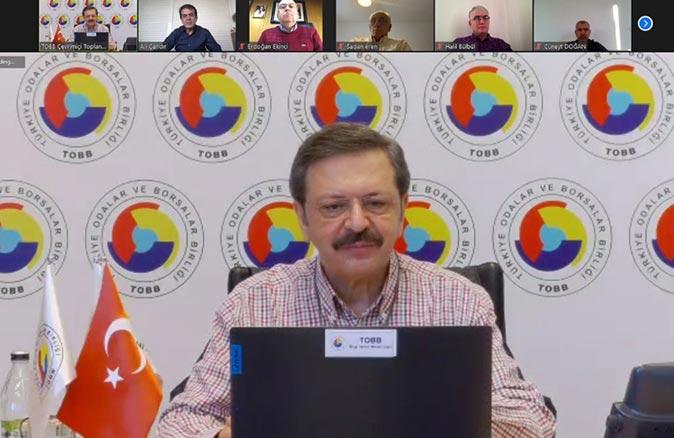ATB Başkanı Ali Çandır, TOBB Başkanı Rifat Hisarcıklıoğlu'na taleplerini iletti