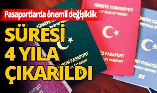 Pasaport süresinde önemli değişiklik