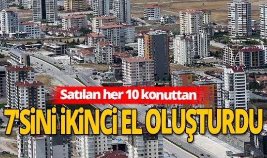 İkinci el pazarı Anadolu'da konut satışı arttı