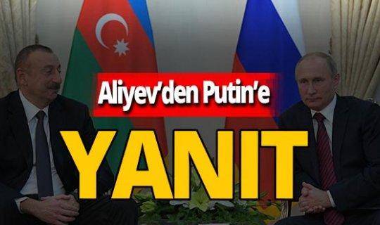 İlham Aliyev'den Vladimir Putin'e yanıt
