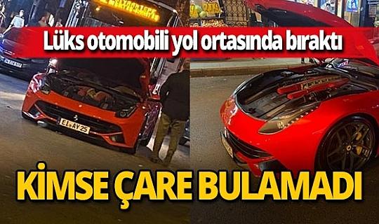 İstanbul'da lüks otomobili yol ortasında bıraktı