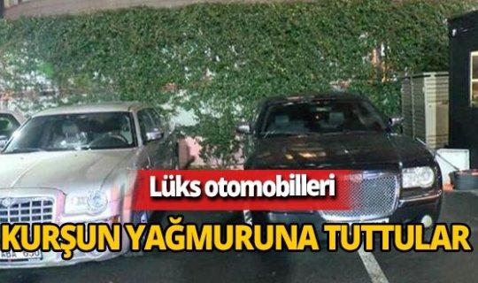 İstanbul'da lüks otomobillere kurşun yağmuru!