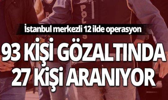 İstanbul merkezli 12 ilde terör örgütü DHKP/C'ye operasyon