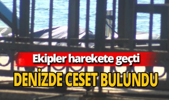 İstanbul Ortaköy'de denizde ceset bulundu