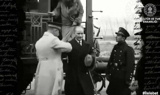 İşte Atatürk'ün ilk kez yayınlanan görüntüleri