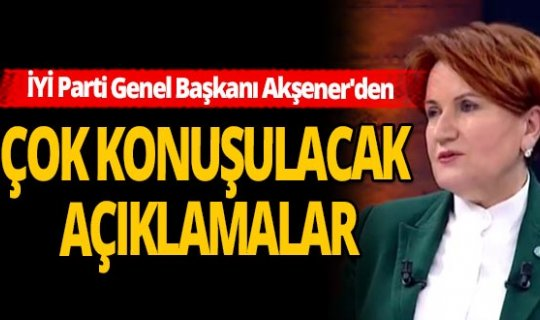 İYİ Parti Genel Başkanı Meral Akşener'den Ümit Özdağ açıklaması