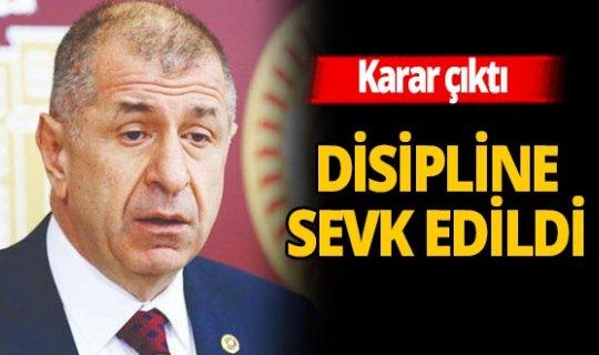 İYİ Partili Özdağ Disipline sevk edildi