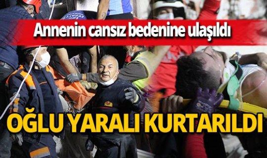 İzmir'de annenin cansız bedenine ulaşıldı, oğlu yaralı kurtuldu
