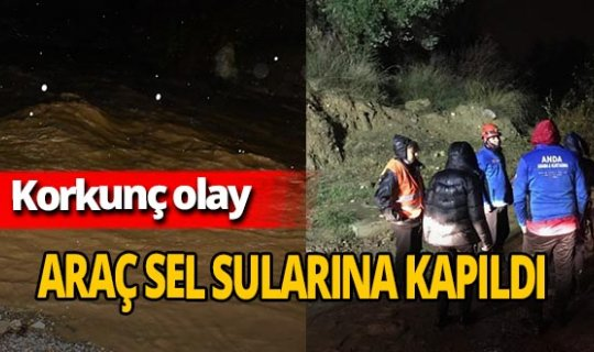 İzmir'de araç sel sularına kapıldı! 3 kişi kurtarıldı, 2 kişi kayıp