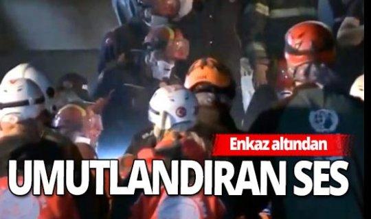 İzmir'de Emrah Apartmanı'nın enkazında yaşam sesi
