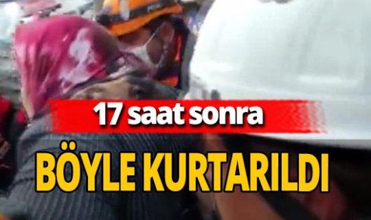 İzmir'de enkaz altında kalan Hülya Özmet kurtarıldı