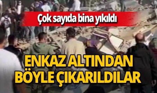 İzmir'de enkaz altındaki yaralılar böyle kurtarıldı