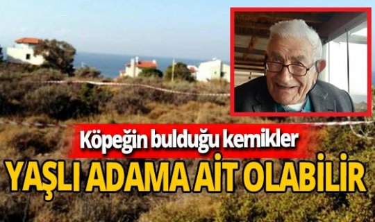 İzmir'de köpeğin bulduğu kemiklerin 573 gün önce kaybolan Hasan Basri Bubur'a ait olabileceğinden şüpheleniliyor