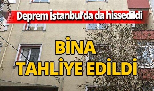İzmir'deki deprem İstanbul'u da vurdu! Bina boşaltıldı