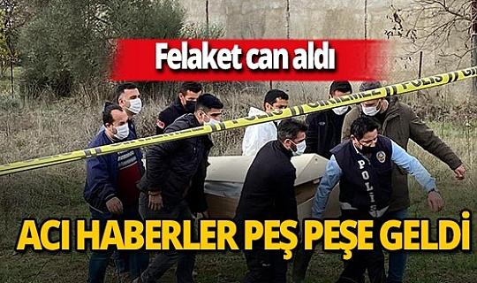 İzmir'in Menderes ilçesinde kayıp olarak aranan 2 kişinin cansız bedenine ulaşıldı