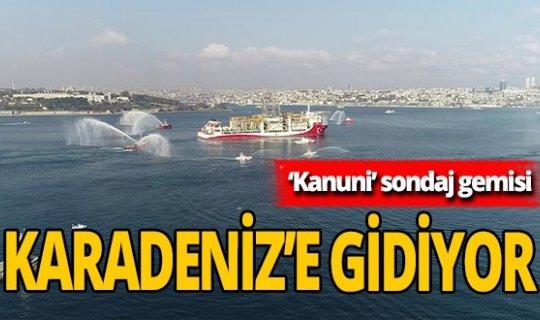 'Kanuni' sondaj gemisi Karadeniz'e uğurlandı