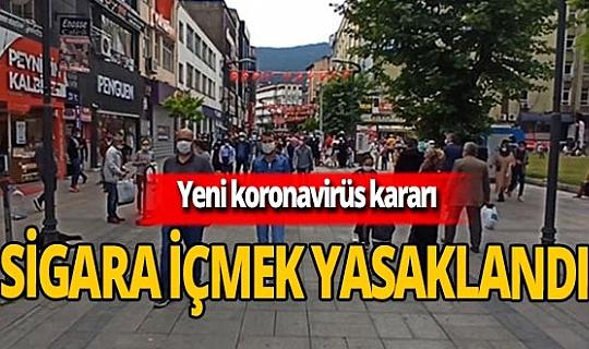 Karabük Kemal Güneş caddesinde sigara içmek yasaklandı