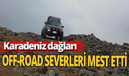 Karadeniz dağlarında off-road heyecanı