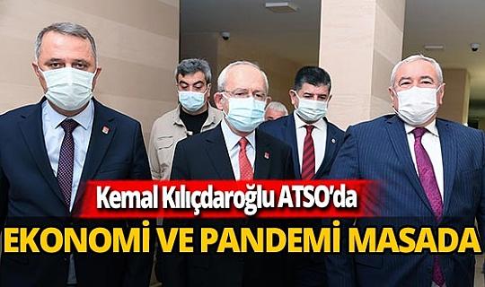Kemal Kılıçdaroğlu ATSO'yu ziyaret etti