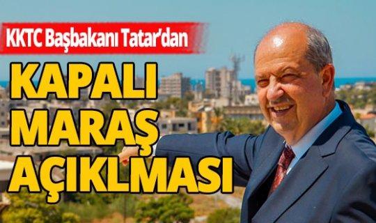 KKTC Başbakanı Tatar'dan flaş açıklamalar