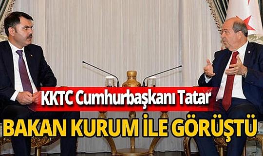 KKTC Cumhurbaşkanı Ersin Tatar Bakan Murat Kurum'u kabul etti