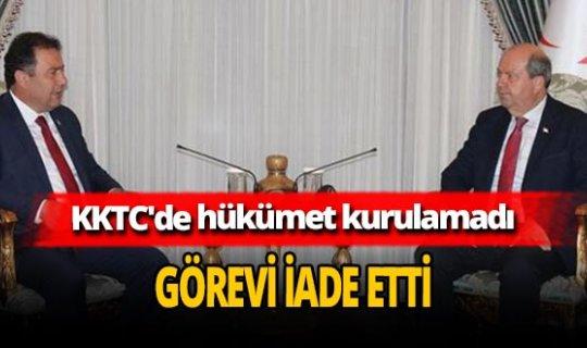 KKTC'de hükümet kurulamadı! Ersan Saner görevi Cumhurbaşkanı Ersin Tatar'a iade etti