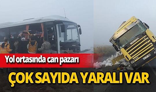 Konya'da Selim Can Ertek'in kullandığı askeri servis aracı, Osman Duran yönetimindeki TIR'la çarpıştı