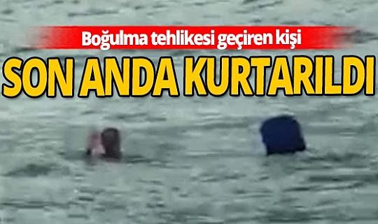 Konyaaltı sahilinde boğulma tehlikesi geçiren kişi son anda kurtarıldı
