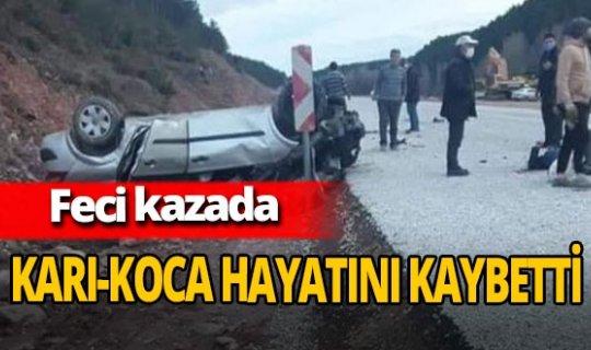 Kütahya'daki feci kazada Ali Kurnaz ve Fatma Kurnaz hayatını kaybetti