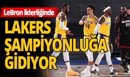 Lakers şampiyonluk kapısını araladı
