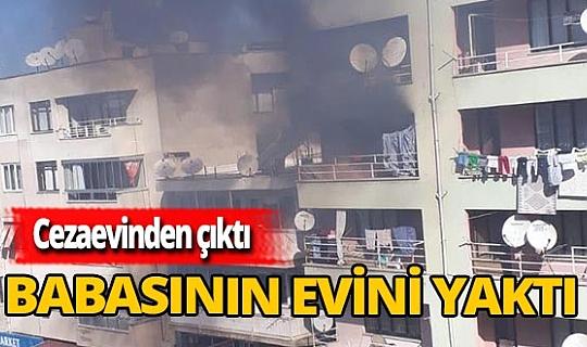 Mahalleli korktu! Babasının evini ateşe verip, kaçtı