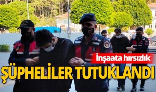 Manavgat'ta inşaat hırsızları yakalandı