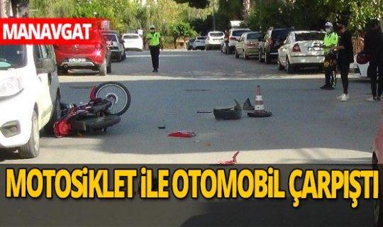 Manavgat'ta motosiklet kazası
