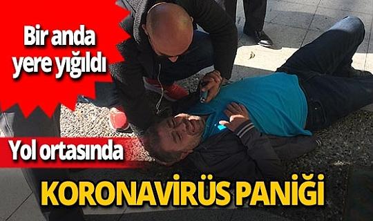 Manisa'da koronavirüs paniği! Bir anda yere yığıldı