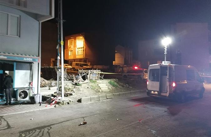 Dehşet dolu gece! Markete el yapımı patlayıcı ile saldırı