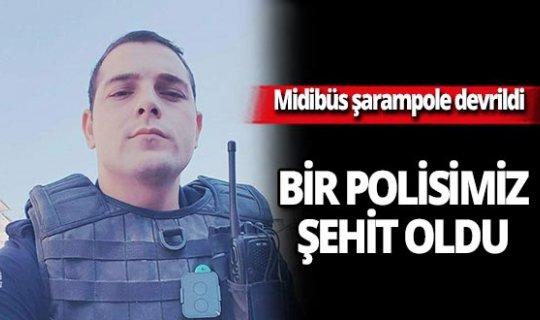 Mersin'de polis midibüsü devrildi! Ömer Faruk Tekağaç şehit oldu