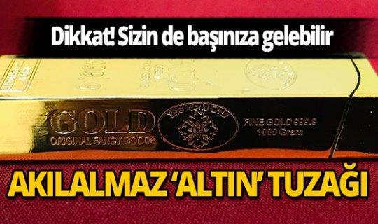 Mersin'de sarı çakmağı külçe altın diye sattılar