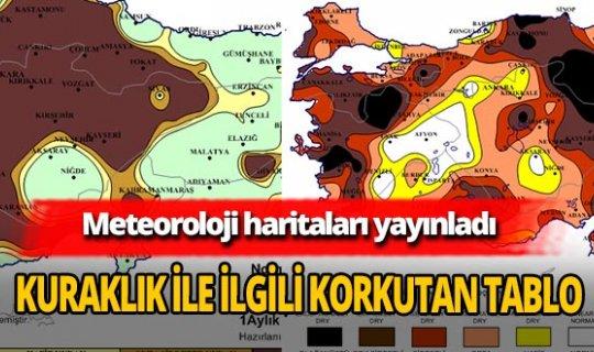 Meteoroloji Genel Müdürlüğü haritaları yayınladı!  'Olağanüstü ve çok şiddetli' kuraklık görüntüsü