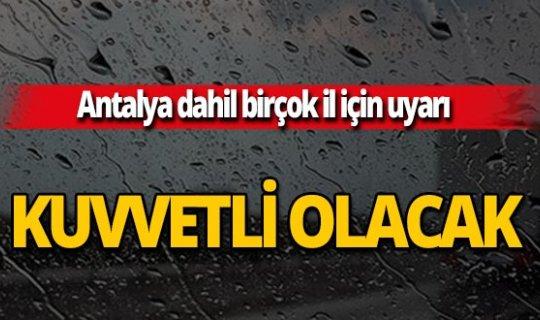 Meteoroloji Genel Müdürlüğü uyardı: Kuvvetli yağış geliyor