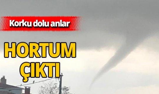 Son dakika! Meteoroloji uyarmıştı, Arnavutköy'de hortum çıktı!