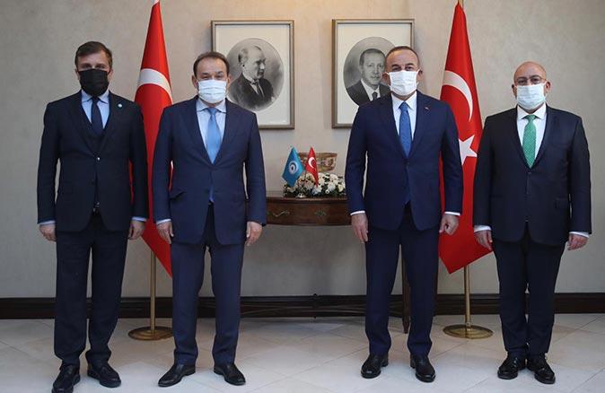 Türk Konseyi Genel Sekreteri Baghdad Amreyev Dışişleri Bakanı Mevlüt Çavuşoğlu'nu ziyaret etti
