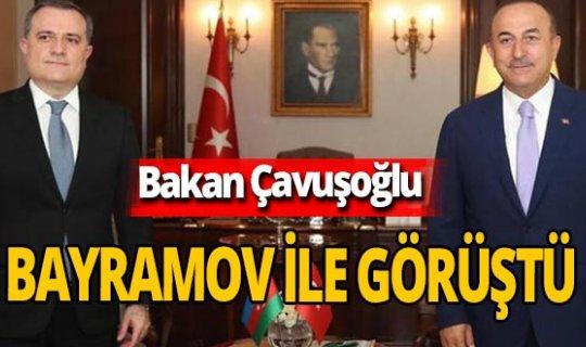 Mevlüt Çavuşoğlu Ceyhun Bayramov ile görüştü