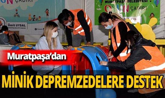 Muratpaşa Belediyesi'nden İzmirli miniklere destek çadırı!